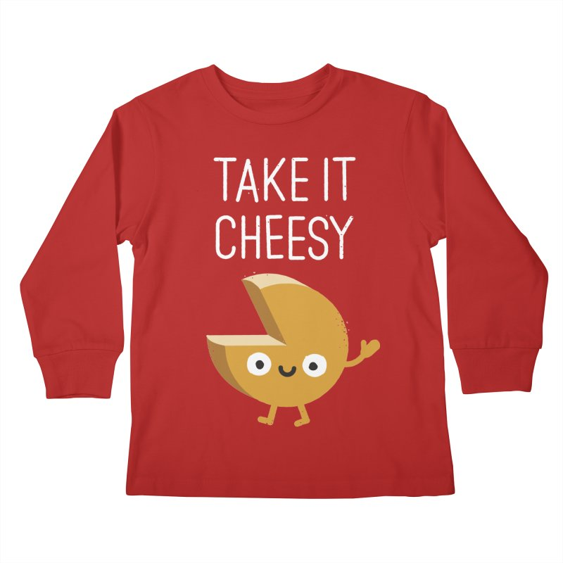 Gouda Bye Kids Longsleeve T-Shirt by David Olenick