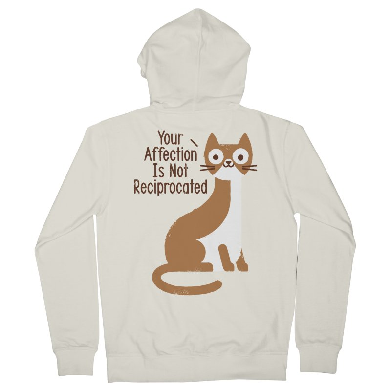 Right Back Cat You Men's French Terry Zip-Up Hoody by David Olenick