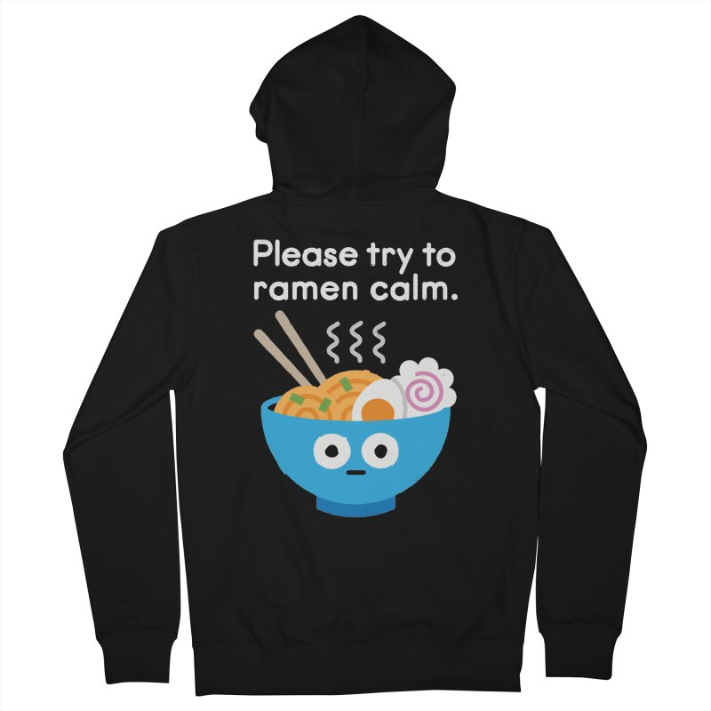 Attention Hotheads Men's Zip-Up Hoody by David Olenick