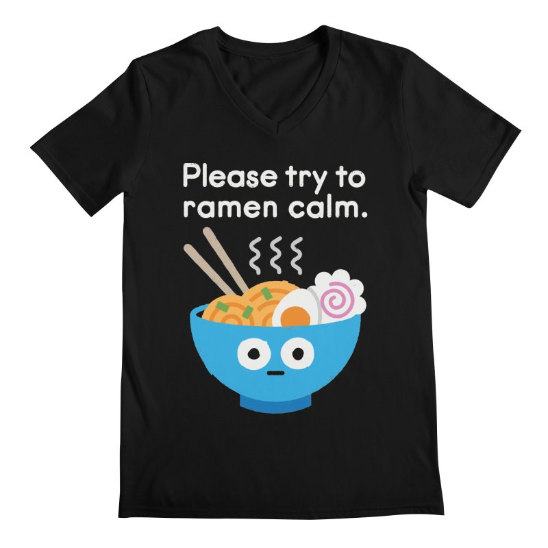 Attention Hotheads Men's V-Neck by David Olenick
