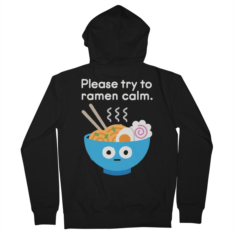 Attention Hotheads Women's French Terry Zip-Up Hoody by David Olenick