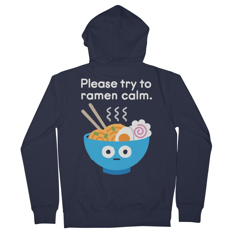 Attention Hotheads Men's French Terry Zip-Up Hoody by David Olenick
