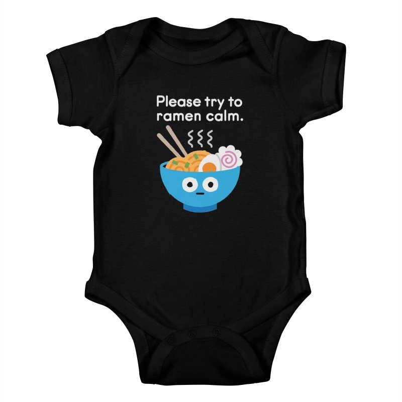 Attention Hotheads Kids Baby Bodysuit by David Olenick