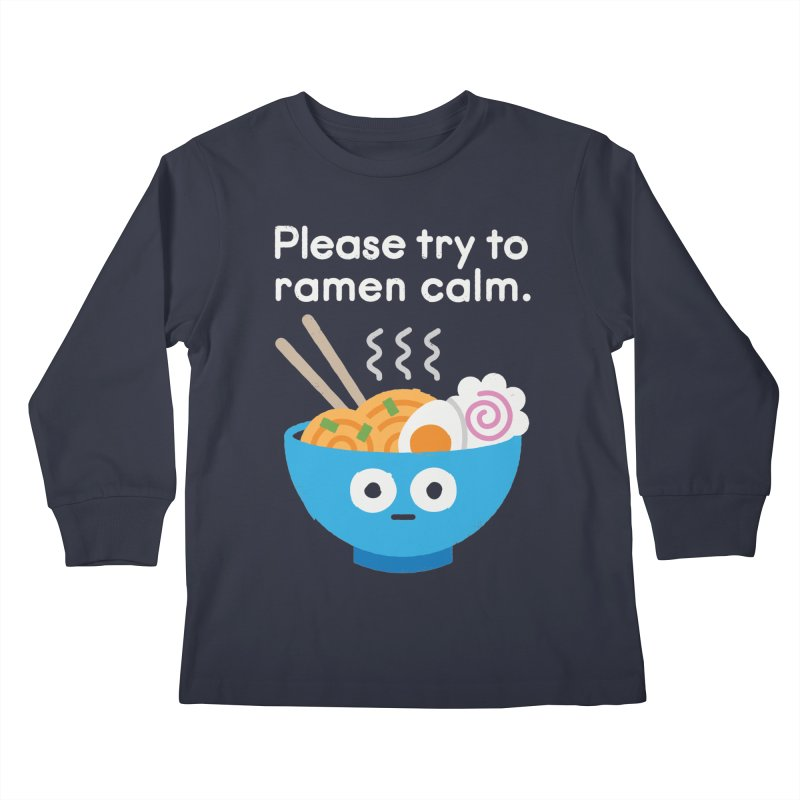 Attention Hotheads Kids Longsleeve T-Shirt by David Olenick