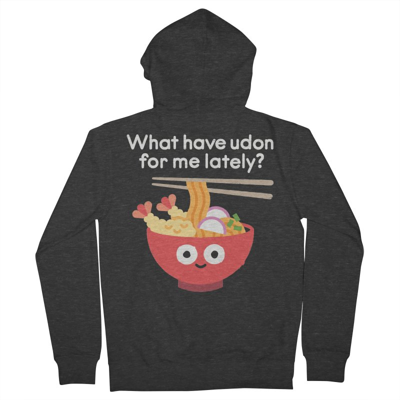 Bringing Something to the Table Women's French Terry Zip-Up Hoody by David Olenick