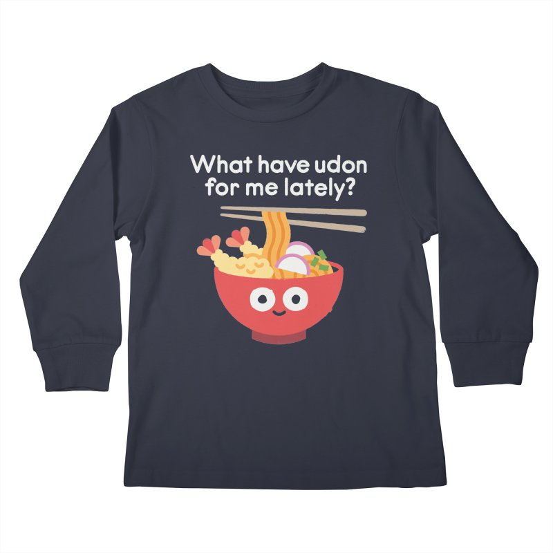 Bringing Something to the Table Kids Longsleeve T-Shirt by David Olenick
