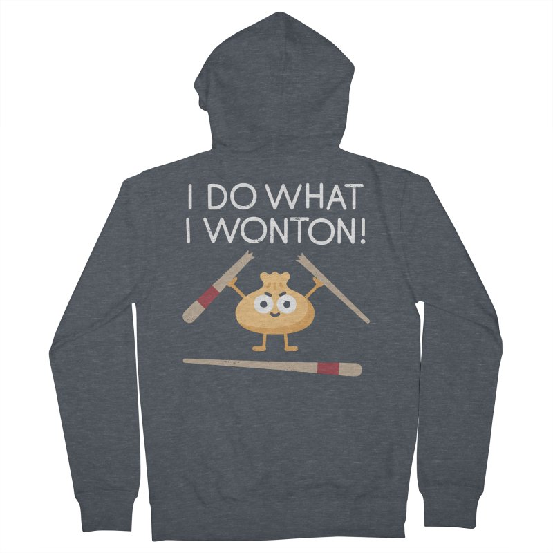 Dumplings Are Revolting Women's French Terry Zip-Up Hoody by David Olenick