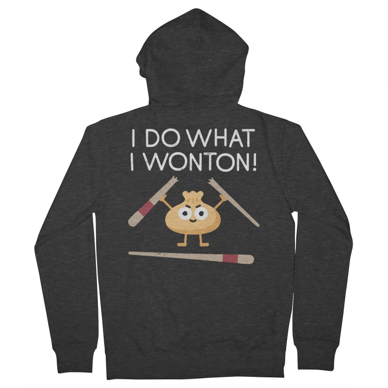 Dumplings Are Revolting Men's French Terry Zip-Up Hoody by David Olenick