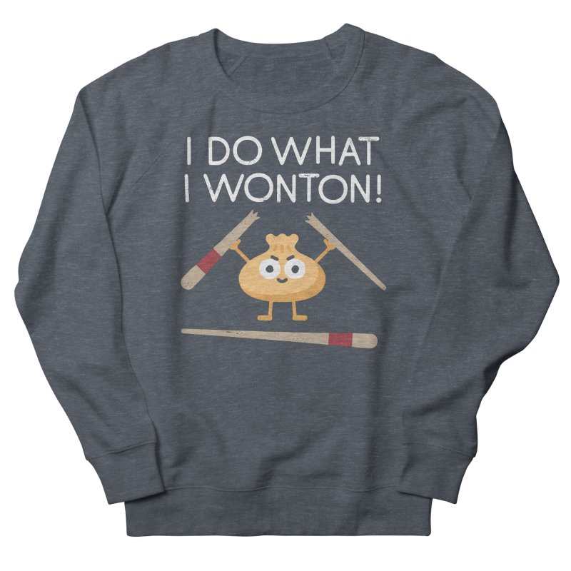 Dumplings Are Revolting Men's French Terry Sweatshirt by David Olenick