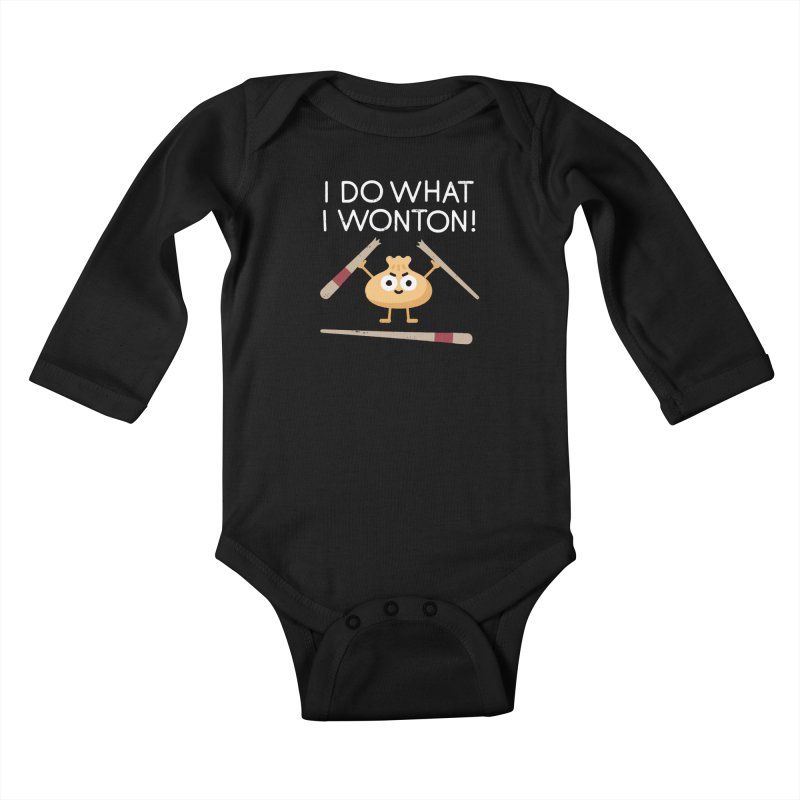 Dumplings Are Revolting Kids Baby Longsleeve Bodysuit by David Olenick