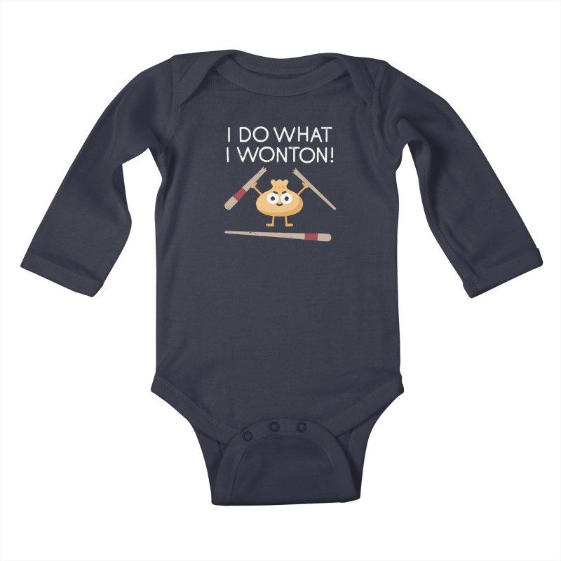 Dumplings Are Revolting Kids Baby Longsleeve Bodysuit by David Olenick