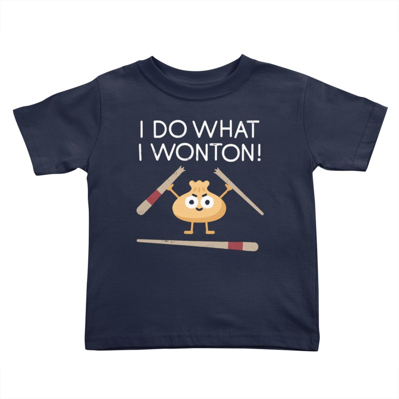 Dumplings Are Revolting Kids Toddler T-Shirt by David Olenick