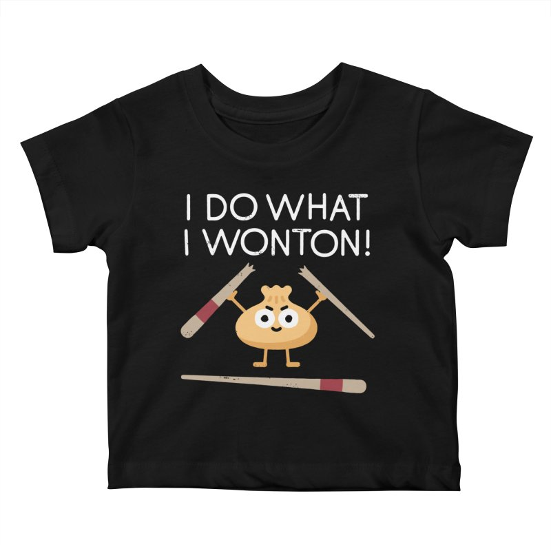 Dumplings Are Revolting Kids Baby T-Shirt by David Olenick