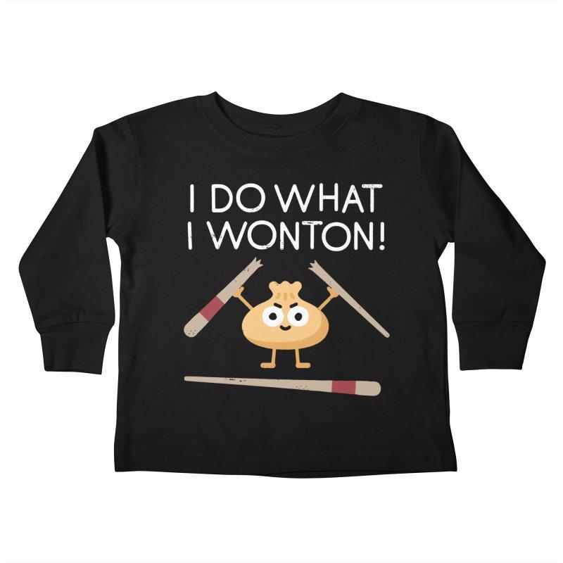Dumplings Are Revolting Kids Toddler Longsleeve T-Shirt by David Olenick