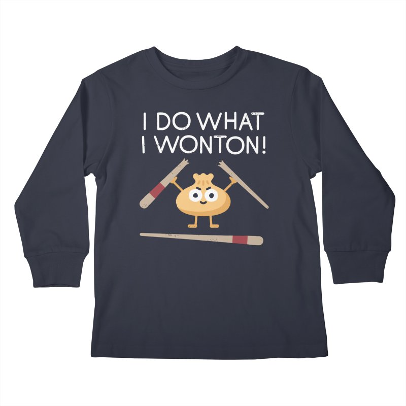 Dumplings Are Revolting Kids Longsleeve T-Shirt by David Olenick