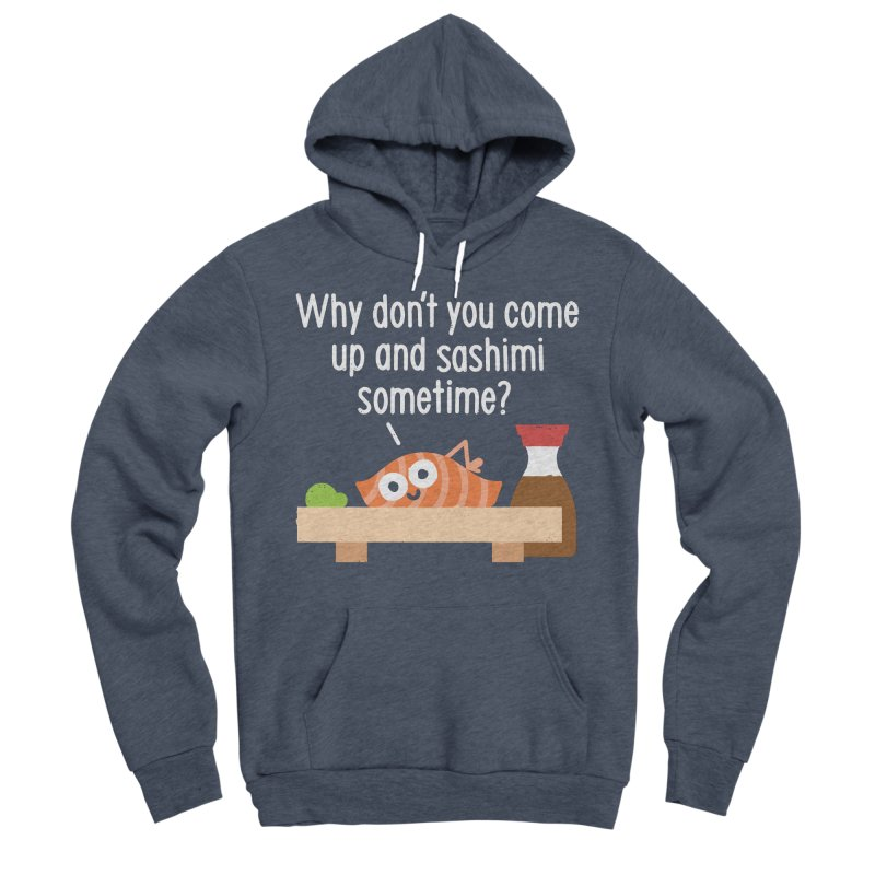 Fishing for Affection Men's Sponge Fleece Pullover Hoody by David Olenick