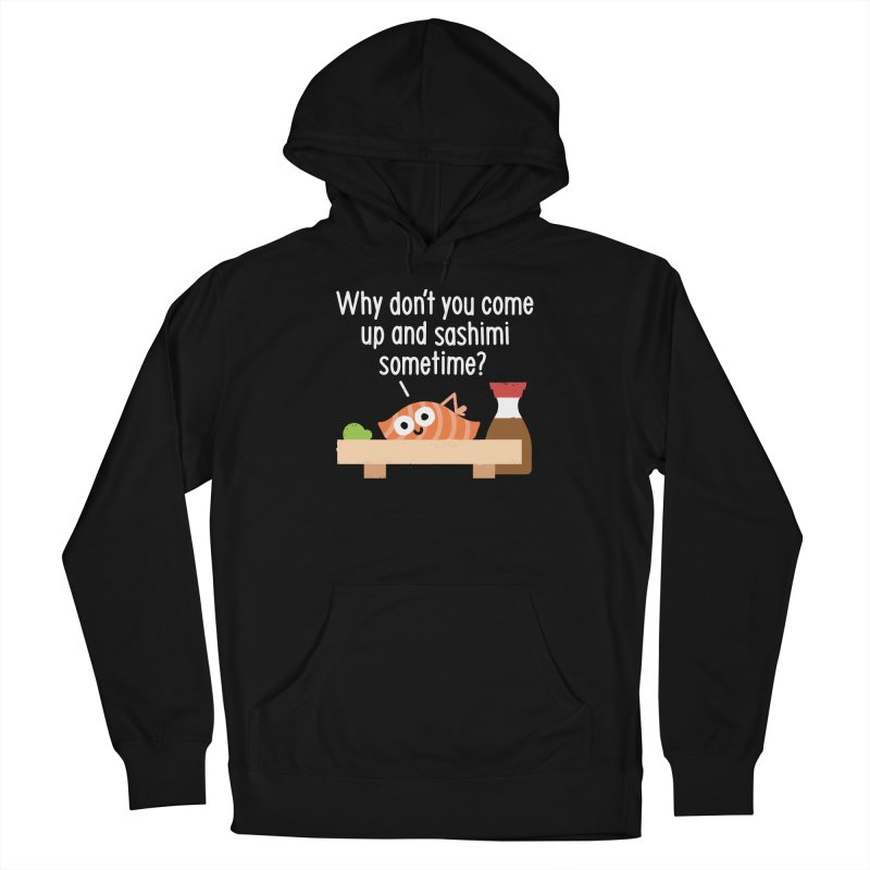 Fishing for Affection Men's French Terry Pullover Hoody by David Olenick