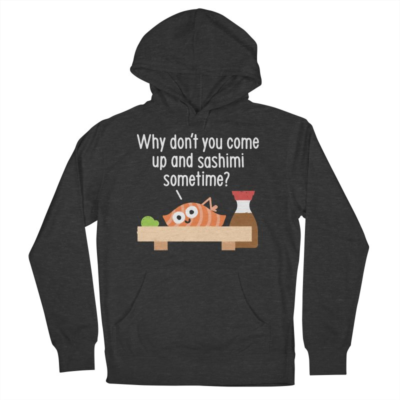 Fishing for Affection Women's French Terry Pullover Hoody by David Olenick