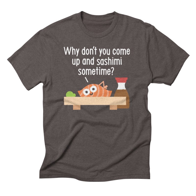Fishing for Affection Men's Triblend T-Shirt by David Olenick