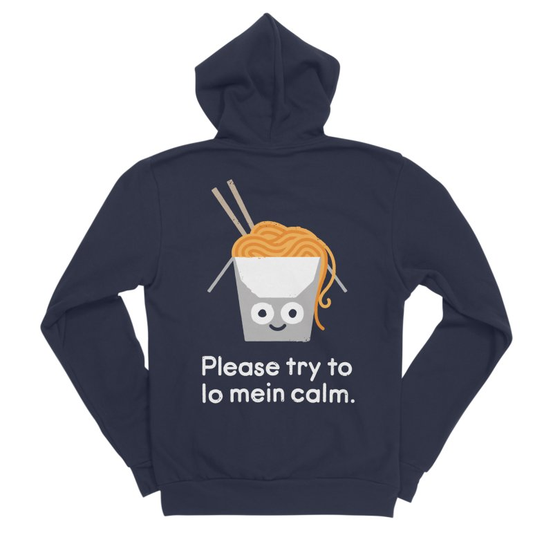 Breathe In, Take-out Men's Sponge Fleece Zip-Up Hoody by David Olenick
