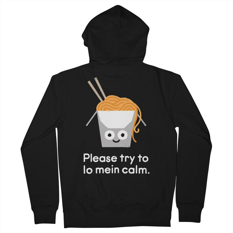 Breathe In, Take-out Men's French Terry Zip-Up Hoody by David Olenick