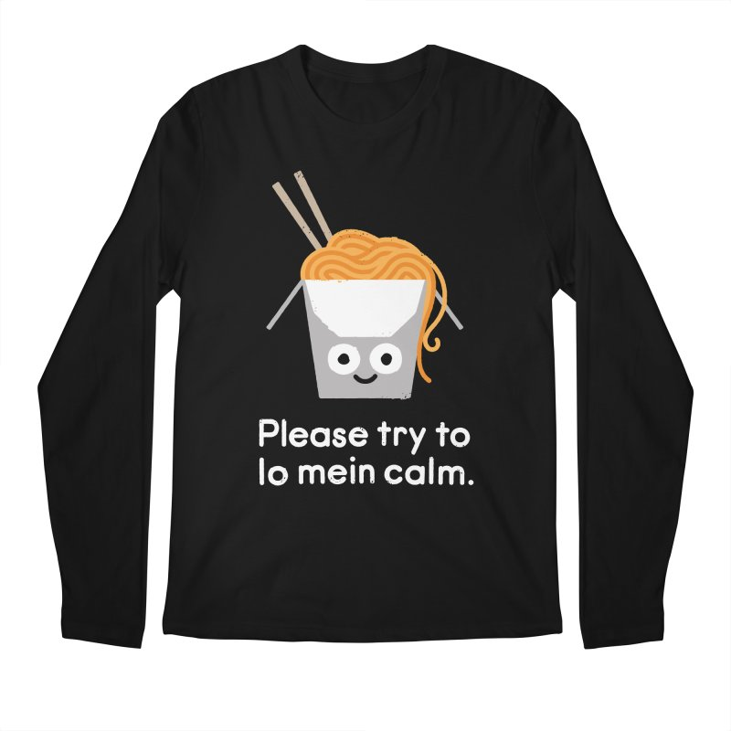 Breathe In, Take-out Men's Regular Longsleeve T-Shirt by David Olenick
