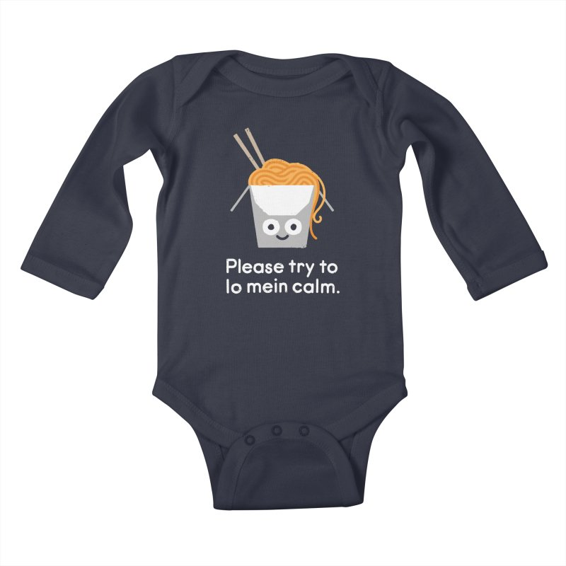Breathe In, Take-out Kids Baby Longsleeve Bodysuit by David Olenick