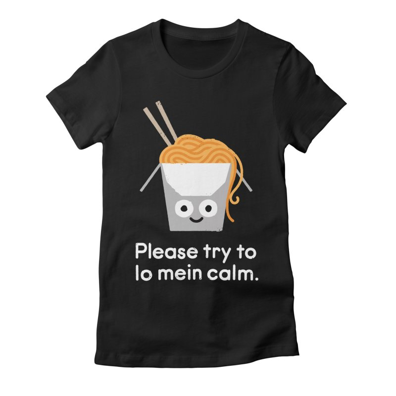 Breathe In, Take-out Women's Fitted T-Shirt by David Olenick