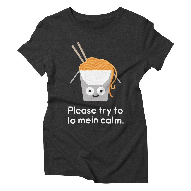 Breathe In, Take-out Women's Triblend T-Shirt by David Olenick