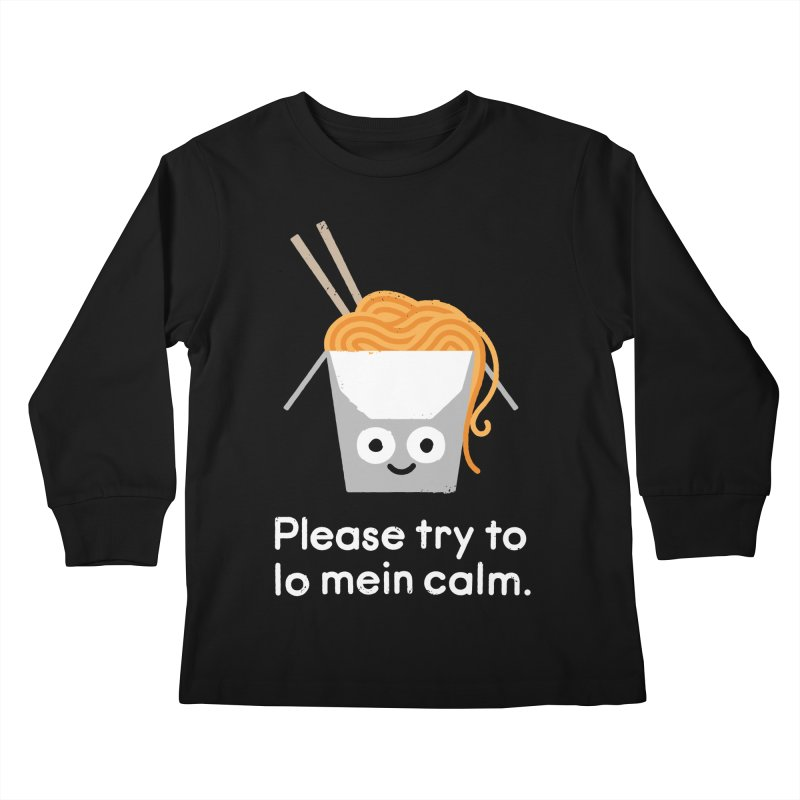 Breathe In, Take-out Kids Longsleeve T-Shirt by David Olenick
