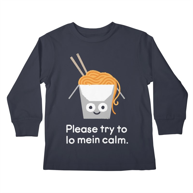 Breathe In, Take-out Kids Longsleeve T-Shirt by David Olenick