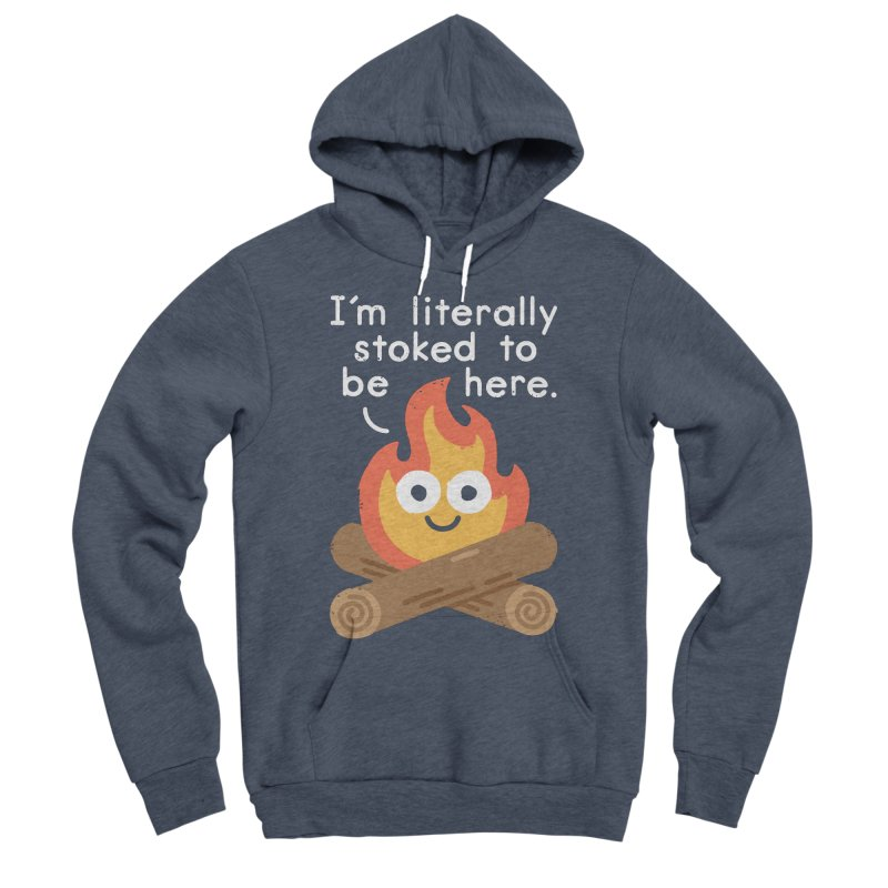 Fired Up Men's Sponge Fleece Pullover Hoody by David Olenick