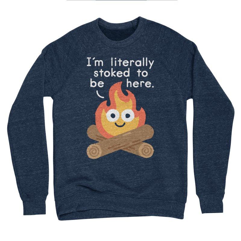 Fired Up Women's Sponge Fleece Sweatshirt by David Olenick