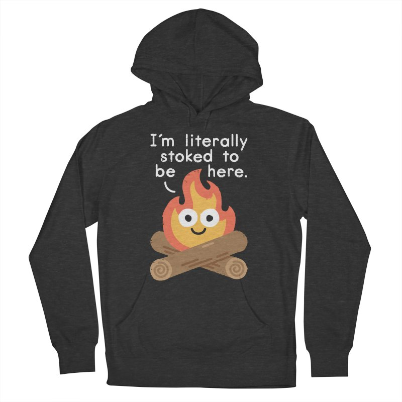 Fired Up Men's French Terry Pullover Hoody by David Olenick