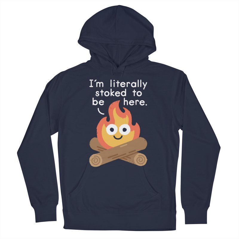 Fired Up Men's Pullover Hoody by David Olenick