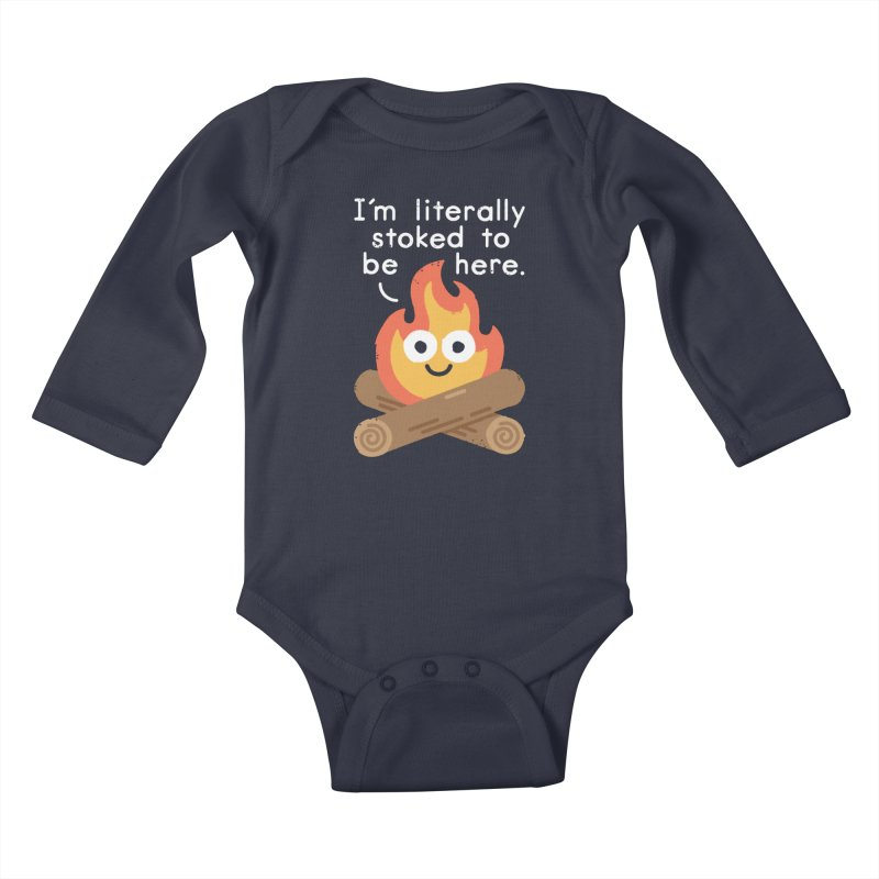 Fired Up Kids Baby Longsleeve Bodysuit by David Olenick