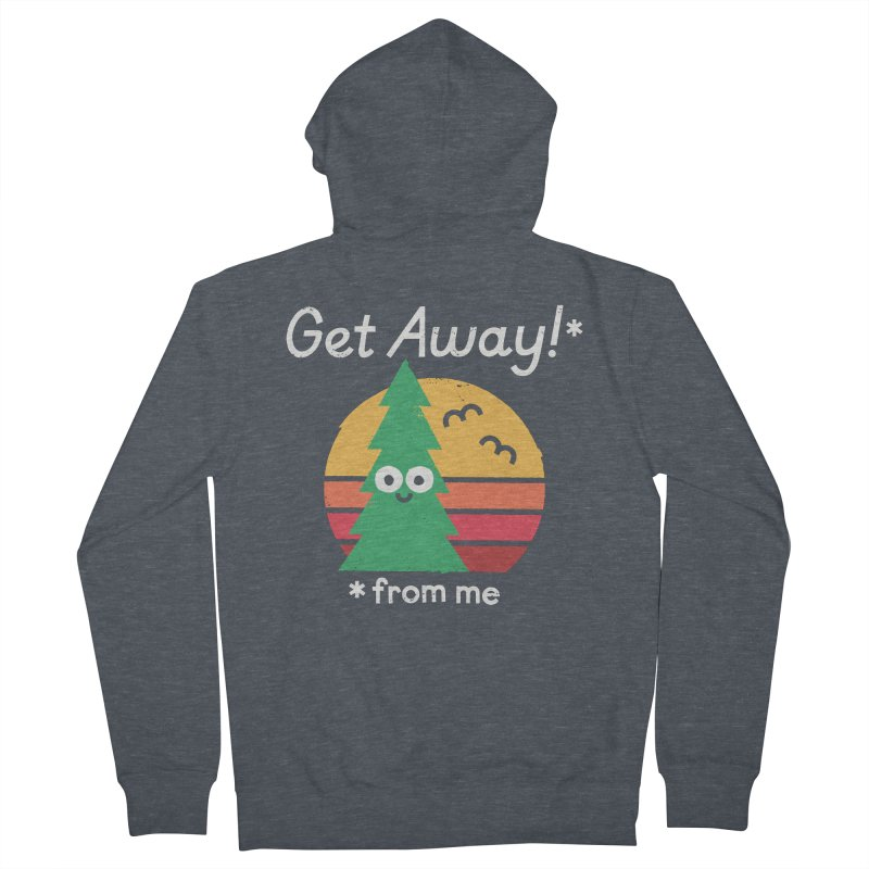 Take A Hike Men's French Terry Zip-Up Hoody by David Olenick