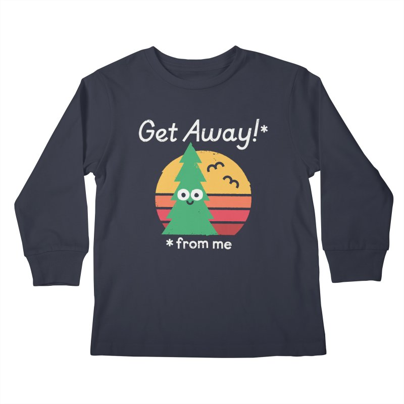 Take A Hike Kids Longsleeve T-Shirt by David Olenick