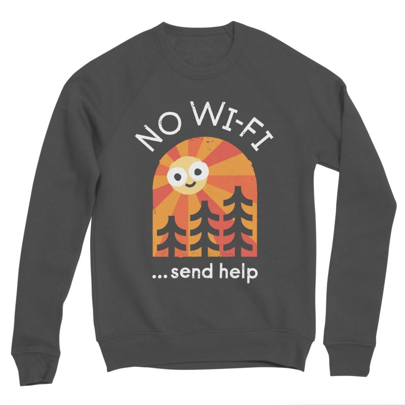 Distress Signal Men's Sponge Fleece Sweatshirt by David Olenick