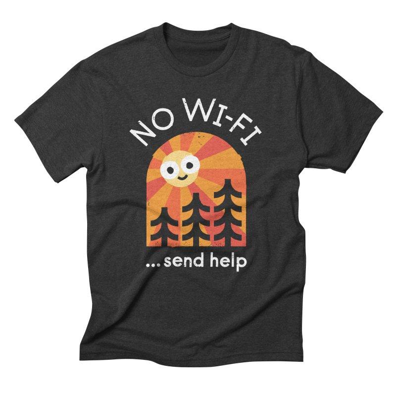 Distress Signal Men's Triblend T-Shirt by David Olenick