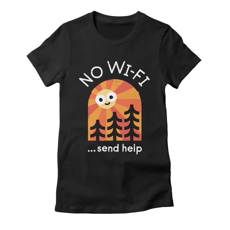 Distress Signal Women's Fitted T-Shirt by David Olenick