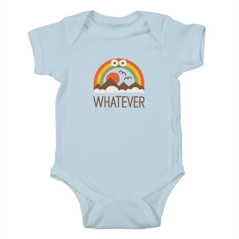 Yawn of a New Day Kids Baby Bodysuit by David Olenick