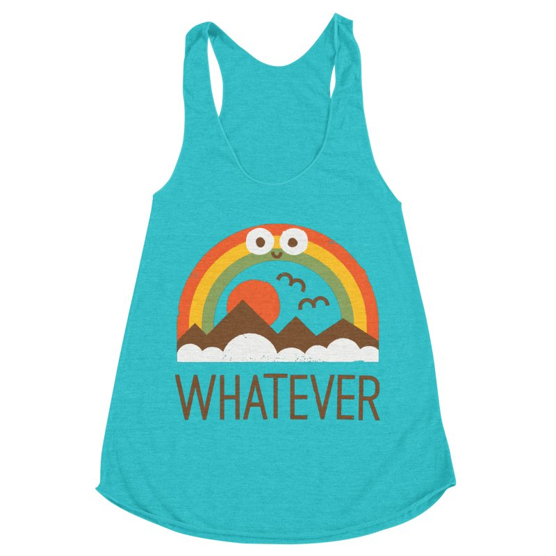 Yawn of a New Day Women's Racerback Triblend Tank by David Olenick