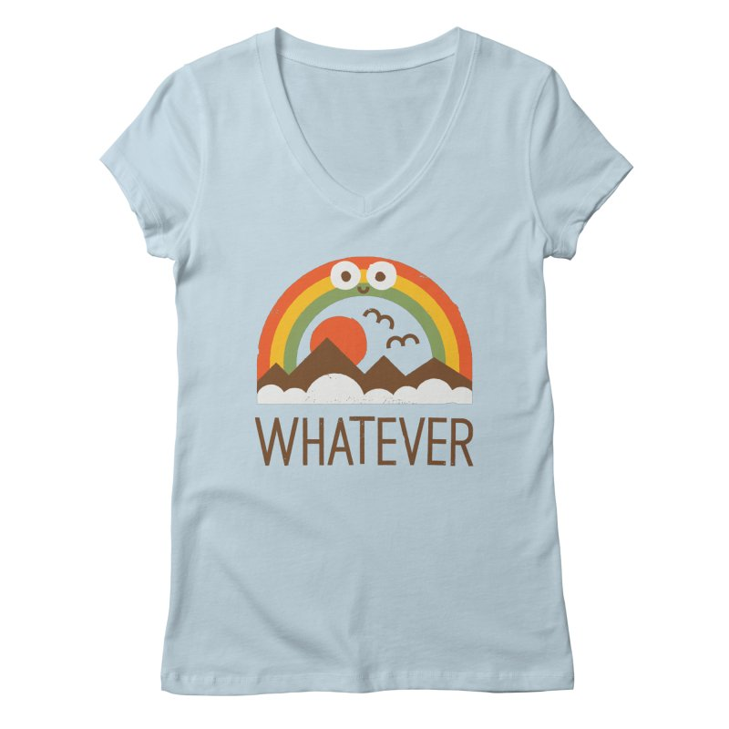 Yawn of a New Day Women's Regular V-Neck by David Olenick