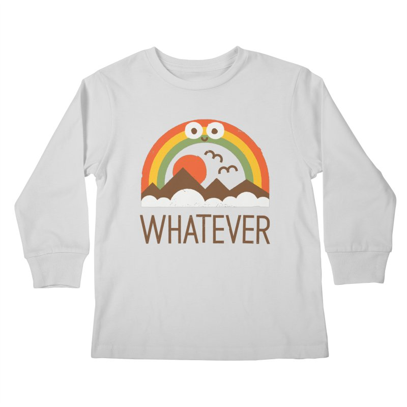 Yawn of a New Day Kids Longsleeve T-Shirt by David Olenick