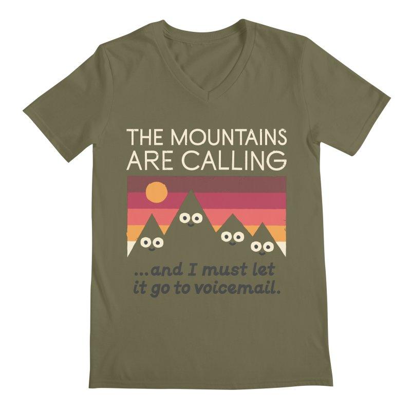 The Hills Have Eyes Men's Regular V-Neck by David Olenick