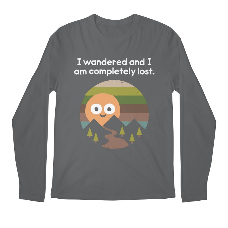 Recalculating Men's Regular Longsleeve T-Shirt by David Olenick