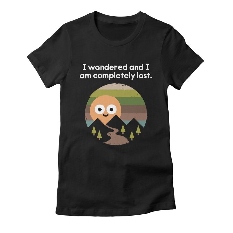 Recalculating Women's Fitted T-Shirt by David Olenick