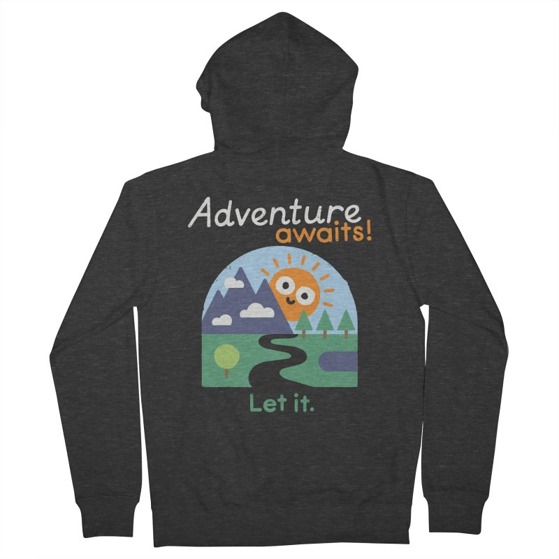 The Road Not Taken Women's French Terry Zip-Up Hoody by David Olenick