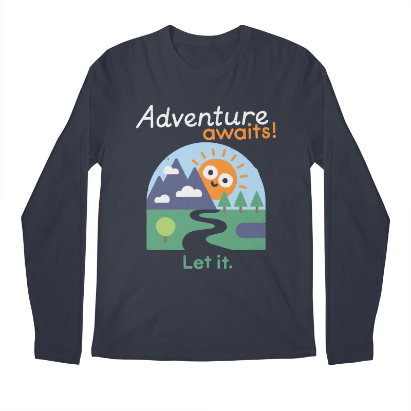 The Road Not Taken Men's Regular Longsleeve T-Shirt by David Olenick